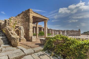 Reconstructed roman villa in Carthage, UNESCO World Heritage Site, Tunisia