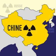 nucléaire - Chine - puissance - bombe atomique - carte - guerre
