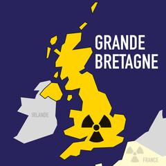 nucléaire - Grande Bretagne - puissance - bombe atomique - carte - guerre