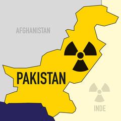nucléaire - Pakistan - puissance - bombe atomique - carte - guerre