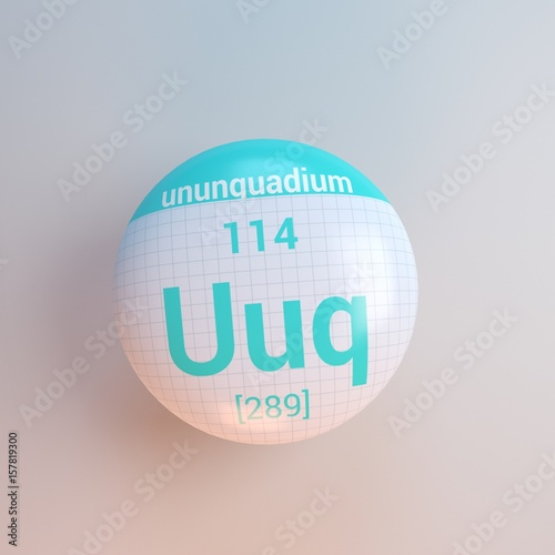 3d rendering periodic table icon uuq ununquadium - Periodic Table Symbol Ununquadium
