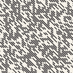 Vector Seamless Irregular Lines Grid Pattern. Trendy Monochrome Texture. Abstract Geometric Background Design