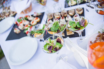 catering service in restaurant