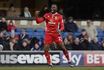 Blackburn's Hope Akpan celebrates scoring their first goal