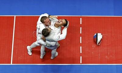 Fencing - Men's Foil Team Gold Medal Match