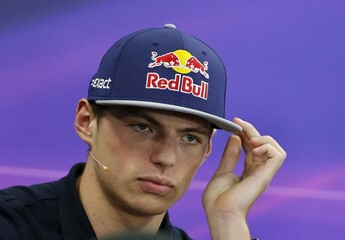 Toro Rosso Formula One driver Max Verstappen of the Netherlands attends a news conference in Suzuka