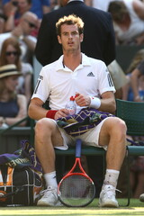 Great Britain's Andy Murray during his fourth round match
