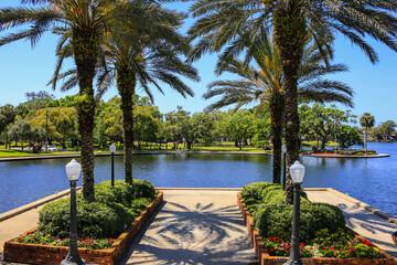Craig Park and Spring Bayou in Tarpon Springs, Florida