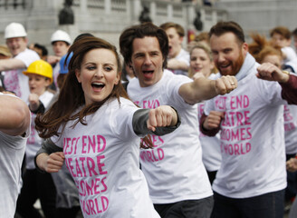 London 2012 - Welcome the World event to celebrate 100 days to go until the Olympic Games