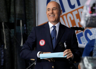 NBC's 'Today' show anchor Matt Lauer models the official Opening Ceremony outfit that Team USA members will wear in New York