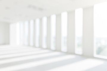 Store, interior, office, abstract defocused blurred background. heaven light Hope concept abstract blurred background...