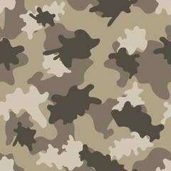 Desert camouflage. Seamless. Vector.