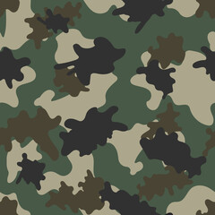 Forest camouflage. Seamless. Vector.