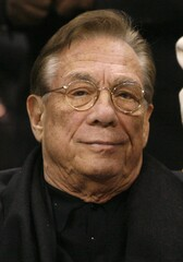 File photo of Los Angeles Clippers owner Sterling attending NBA basketball game between Raptors and Clippers in Los Angeles