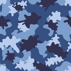 Blue camouflage. Vector.