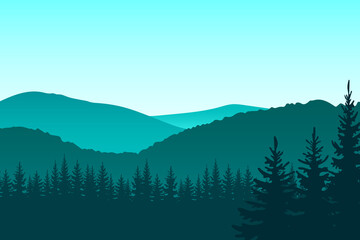 Forest.  Vector.