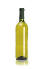 Mock-up bottle of wine isolated on white background. Close up
