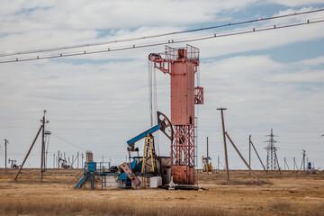 Oil pump in western Kazakhstan