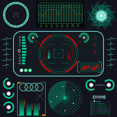 Abstract future, concept vector futuristic blue virtual graphic touch user interface HUD. For web, site.