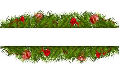 christmas rectangular white frame