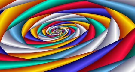 Fototapeta Colorful spiral