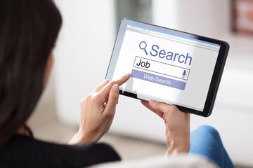 Woman Searching Online Job