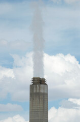 A view of emissions from the smoke stacks of the coal fired Intermountain Power Project, which will close in 2025, outside Delta