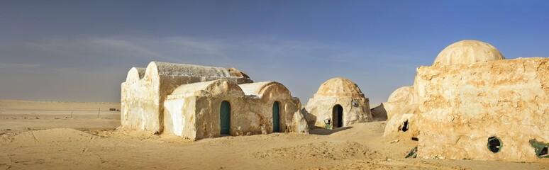 old arabian city in desert Sahara in Tunisia