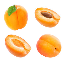 Wall Mural - apricot isolated on white