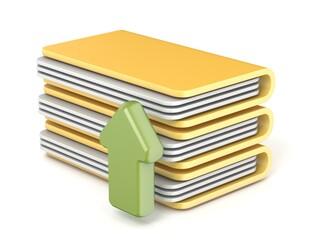 Upload folder icon 3D