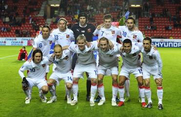 Czech Republic lineup before the match
