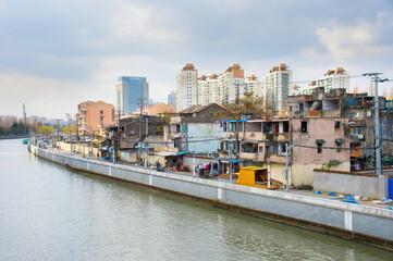 Changing architecture of Shanghai , China