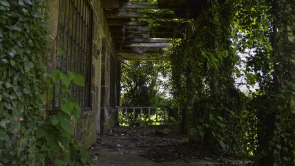 abandoned front porch