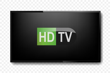 Tv realistic HD. Vector illustration
