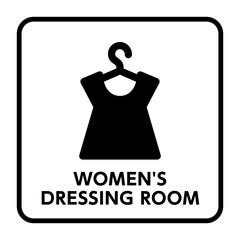 サイン 更衣室,女性用