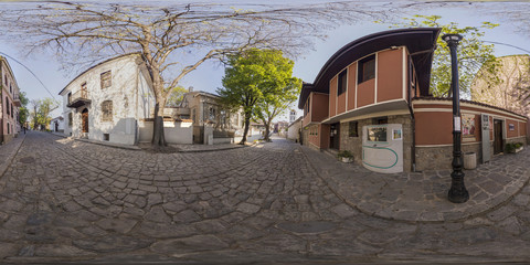 360 degrees panorama of the Fine Art Gallery in Plovdiv, Bulgaria