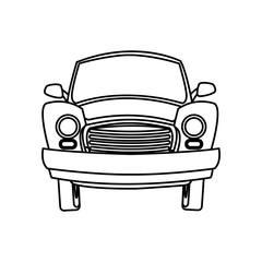 cartoon car transport travel empty vector illustration