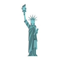 statue of liberty cartoon vector graphic design