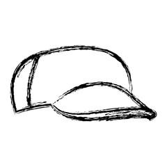 cartoon baseball cap accessory clothes vector illustration