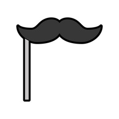 cute booth prop moustache cartoon vector graphic design