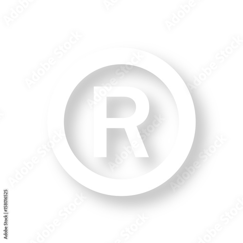 Icon Mit Schatten Copyright R Stock Image And Royalty Free Vector