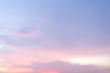 abstract Beautiful sunset sky background, blur background