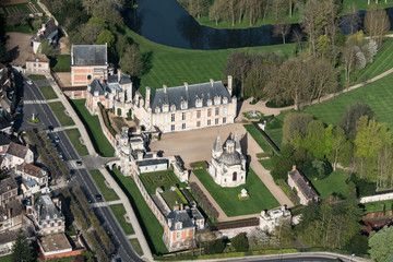 Vue aérienne du château d'Anet