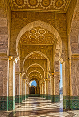 Casablanca, Morocco. Mosque Hassan II building