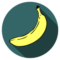 Banana Fruit Food flat design icon vector eps 10