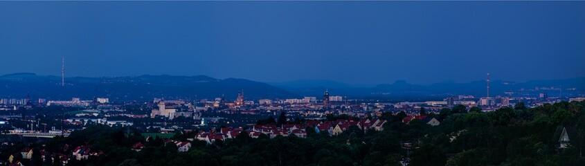 Dresden Panorama vom Bismarckturm Cossebaude
