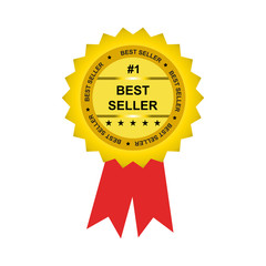 best seller tag,label, isolated vector
