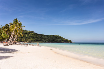 White sand beach in Phu Quoc island in Vietnam