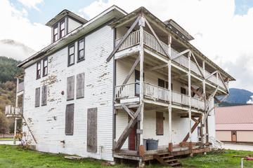 abandoned decaying hotel