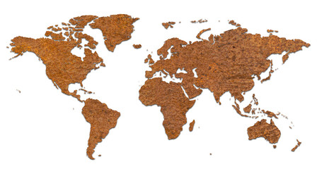 Rusty World Map